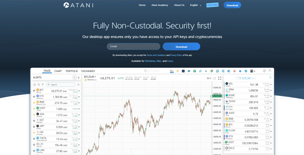 Downloading Atani trading application